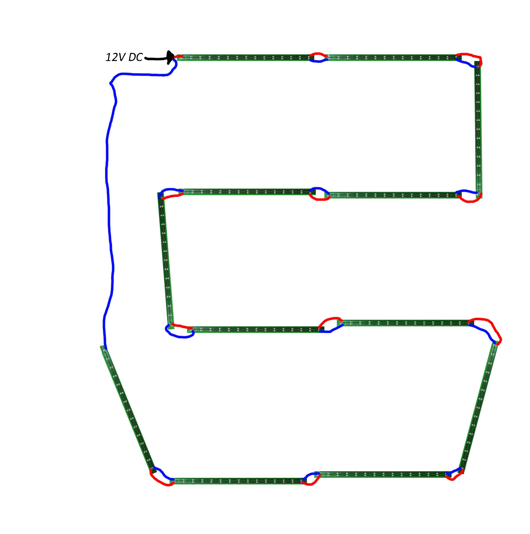 Teknisk spørsmål rundt oppkobling av led dioder