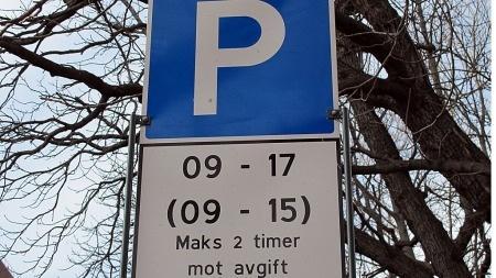 gratis parkering søndag