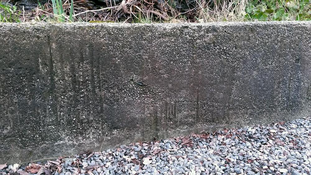 Pusse betongmur