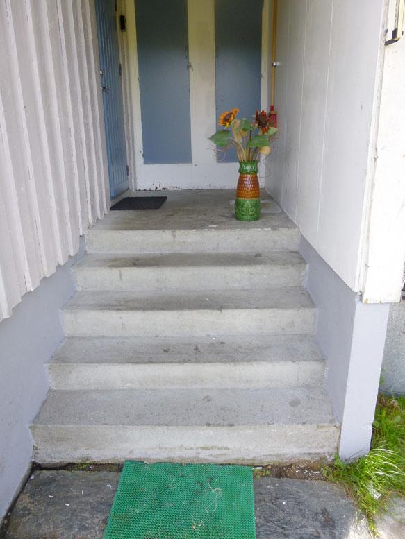 Vaske betongtrapp