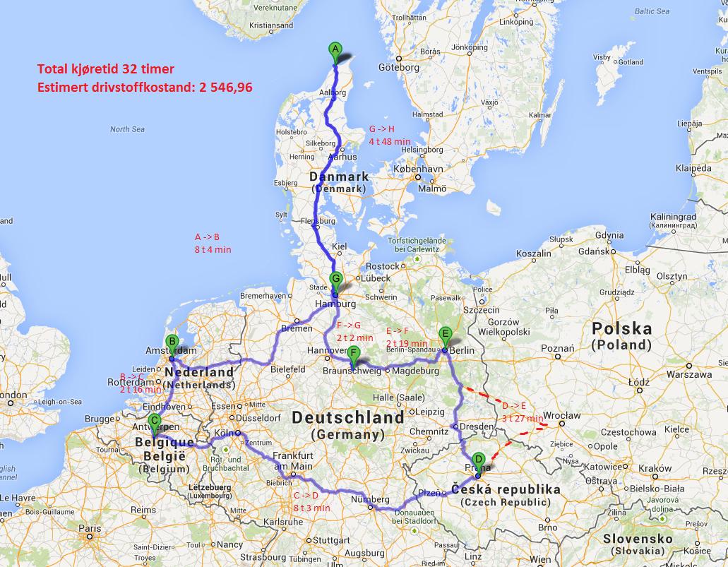 kart kjørerute europa Roadtrip i Europa (oktober)   Ferie og reise   Diskusjon.no kart kjørerute europa