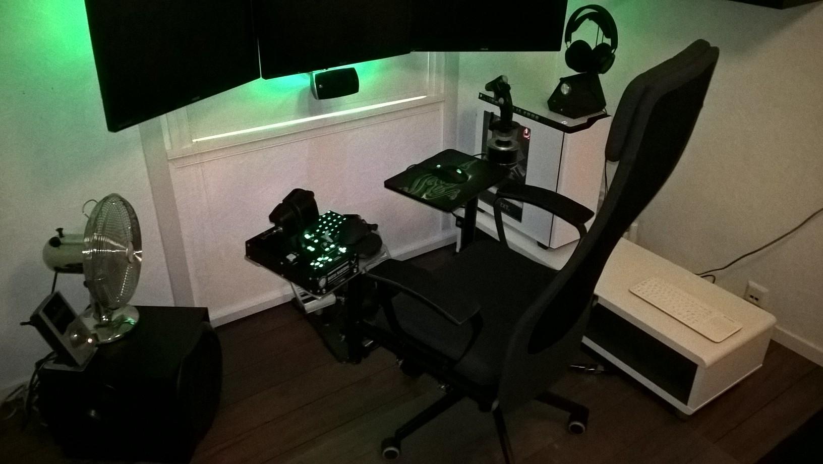 Bygge battlestationcombat flight simulator stol. Side 2
