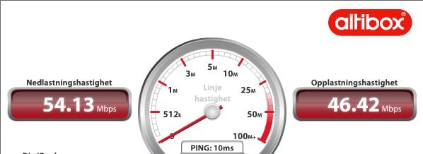 internet hastighet test