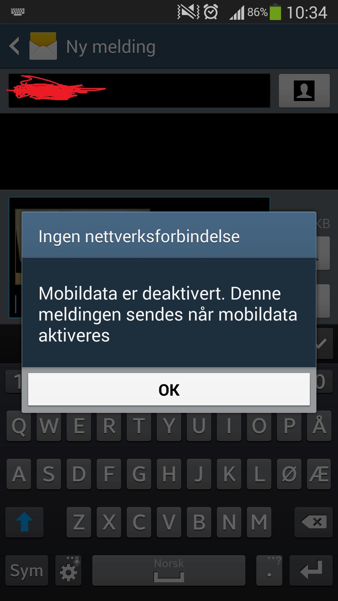 kan ikke sende mms iphone