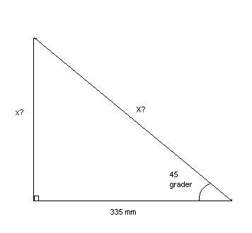Likebeint trekant 90 grader